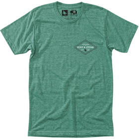 Hippy Tree Stonecrest T-shirt Heren, heather green